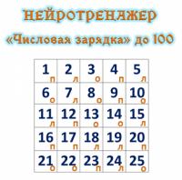 НЕЙРОТРЕНАЖЕР «Числовая зарядка» до 100