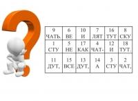 Шифровки «Загадки по слогам». В порядке возрастания чисел