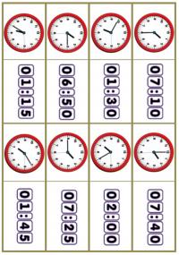 ДОМИНО «Который час?». До  полудня.